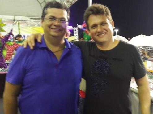 O comunista Flávio Dino, e o adjunto de Marketing do governo do estado, Marco Aurélio, responsável pelo fake Revista Péssima