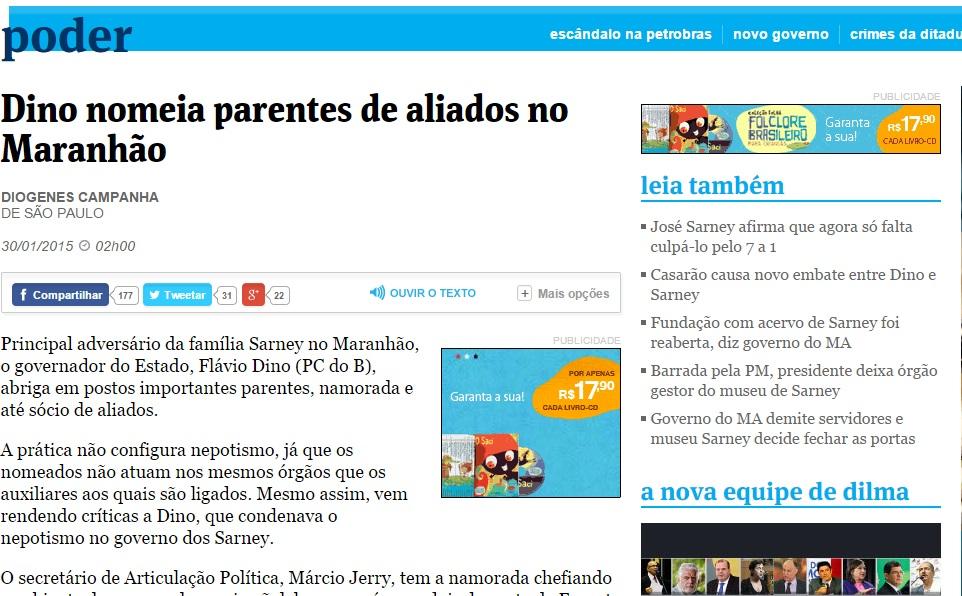 Governador do Maranhão vem nomeando parentes de aliados para cargos de alta importância na administração pública estadual