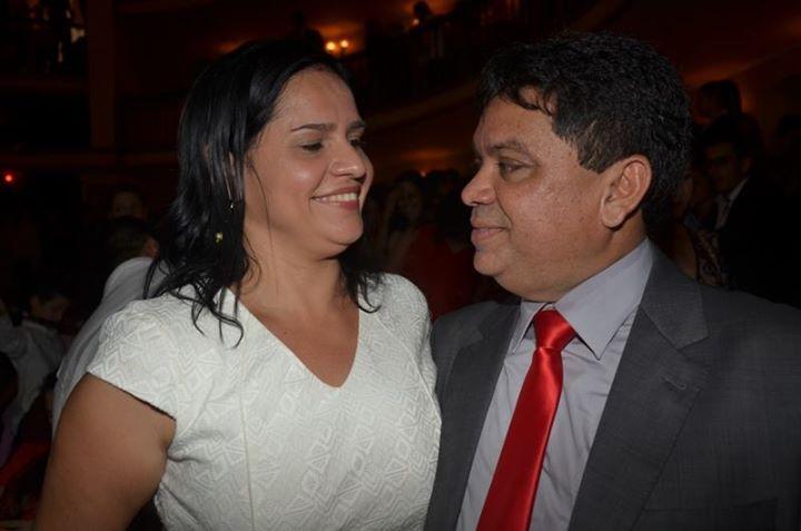 O secretário de Articulação Política, Márcio Jerry, e sua namorada, chefe de Gabinete de Dino, Lene Rodrigues