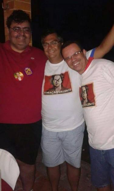 O governador Flávio Dino, ladeado pelos sócios Mário Macieira, presidente da OAB-MA, e o diretor-geral do Detran-MA, Antônio Nunes
