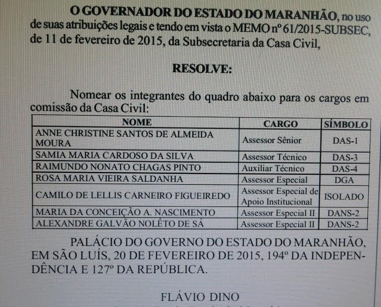 Sem mandato, Camilo Figueiredo ganhou uma boquinha no governo estadual, dada pelo próprio governador Flávio Dino