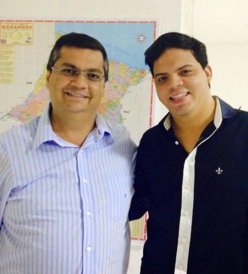 Camaradagem entre Flávio Dino e Luciano Genésio vem desde o tempo em que o amigo era do PCdoB
