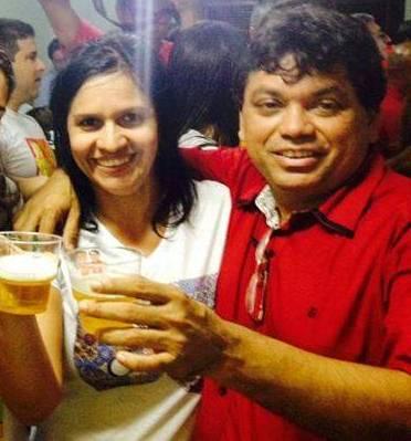 O casal Lene Rodrigues e Márcio Jerry, empregados e engordados em suas contas bancárias pelo governador Flávio Din