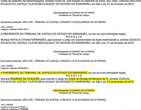 Presidente do TJ-MA manobrou Resolução do Poder Judiciário para garantir sinecura ao ex-funcionário de Sarney