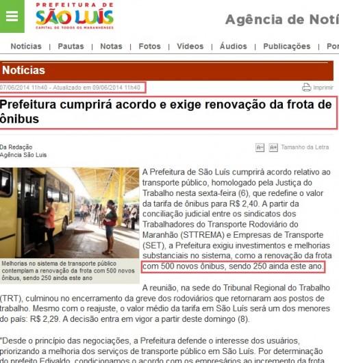 Edivaldo Holanda Júnior prometeu que prefeitura exigiria renovação da frota em 500 novos ônibus, sendo 250 só no passado