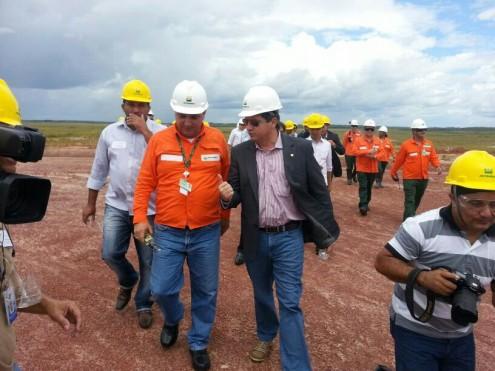 O então deputado federal Simplício Araújo, quando a retomada das obras da refinaria em Bacabeira ainda era importante para o Maranhão