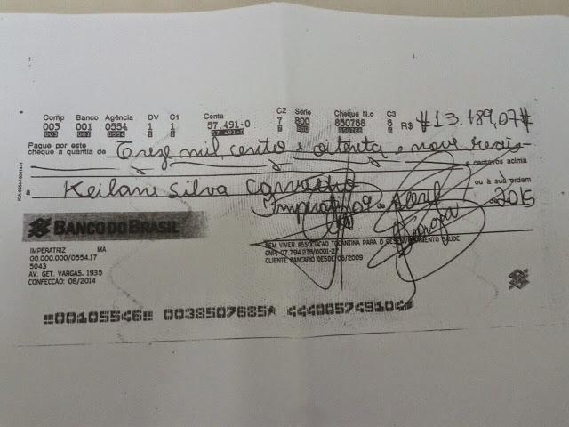Super pagamento de Keilane Carvalho, agora Coordenadora de Enfermagem da UPA de Imperatriz