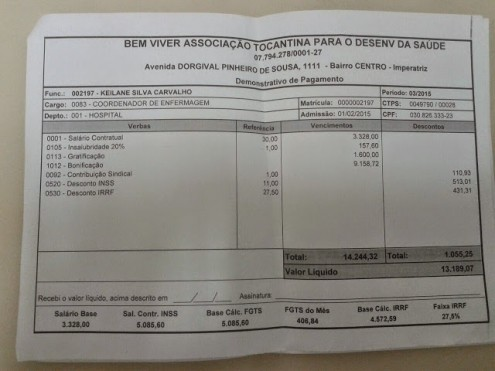 Cópia do contra-cheque de Keilane Carvalho