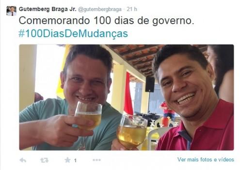 Sócio da Ítalo Azevedo comemora 100 dias do governo que o beneficiou com R% 540 mil