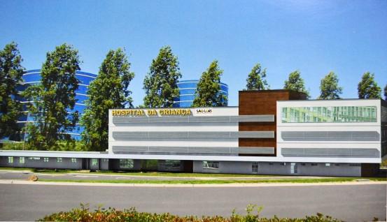 Maquete mostra que reforma do Hospital da Criança já contava com a ampliação da unidade para quatro andares. Prefeito Edivaldo garante que entrega assim em seis meses
