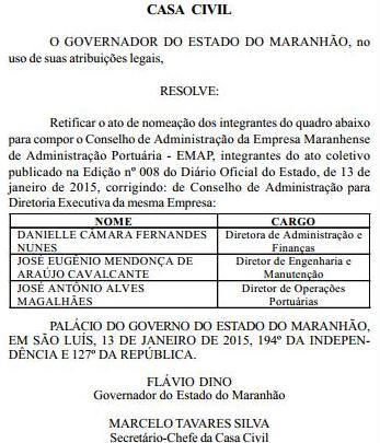 Cargo dado por Flávio Dino à esposa do chefe do Detran garante o recebimento da bonificação