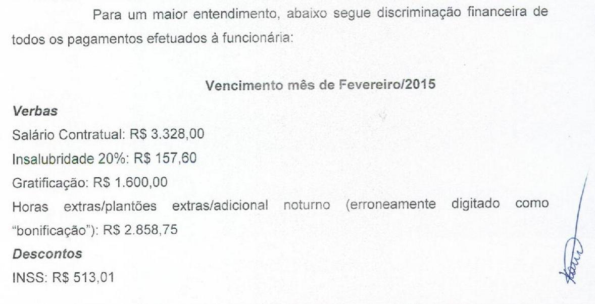 Nota da Bem Viver revela que efetuou o pagamento de fevereiro de Keilane Carvalho, mesmo sem a entrega dos documentos necessários para sua admissão