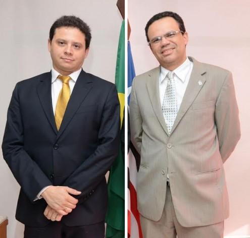 A dupla Rodrigo Maia e Antônio Nunes, que estiveram em cruzada ontem, em busca de um diálogo com o juiz Clécio Coelho