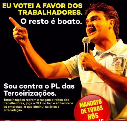 Enquanto vice-líder do PCdoB na Câmara tenta reverter boato de que é a favor das terceirizações, governador do Maranhão faz o contrário
