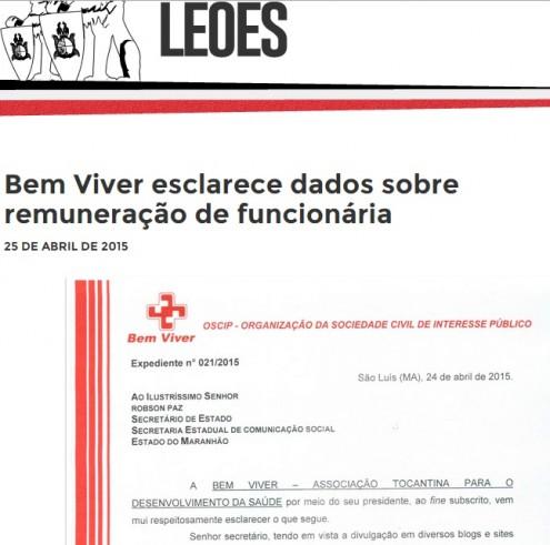 Espaço oficial do governo Dino foi usado para defender a Oscip Bem Viver e a enfermeira Keilane Carvalho