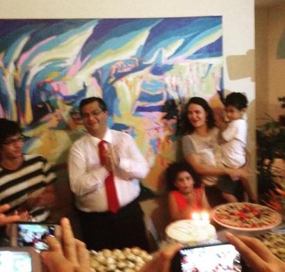 Festa de aniversário do governador Flávio Dino nas dependências do Palácio dos Leões