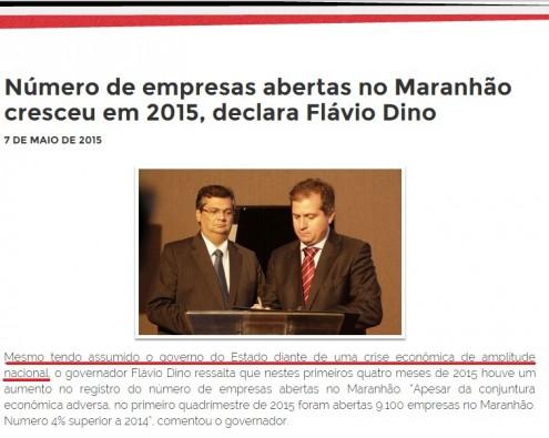 Governador do Maranhão alerta que recebeu o comando do Estado diante de um crise econômica trazida ao país pelo governo do PT