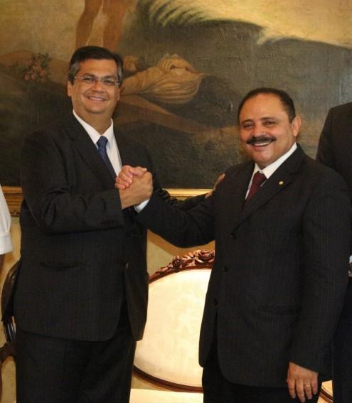 O deputado Waldir Maranhão e o governador Flávio Dino, que deu parte do controle da Secretaria de Ciência e Tecnologia para o aliado
