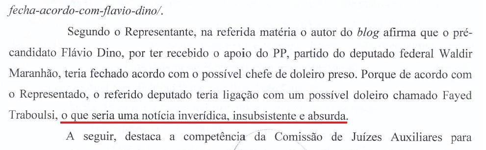 Comando pelo secretário de Articulação Política, partido de Flávio Dino saiu em defesa de Waldir Maranhão
