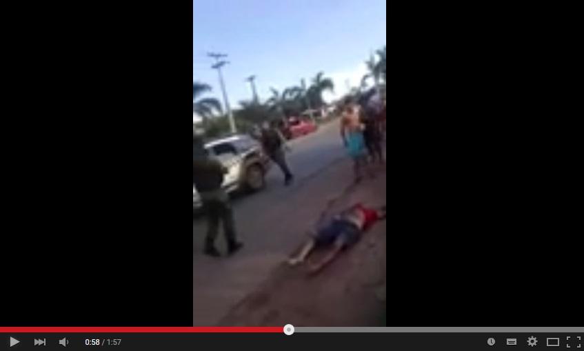 Vídeo mostra quem executou homem, ao lado de PMs, em Vitória do Mearim