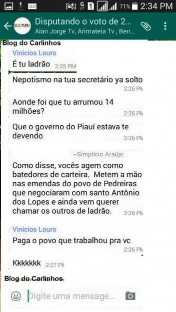 Vinicius Louro chamou Simplício de ladrão; secretário devolveu chamando parlamentar e seu pai de batedores de carteira