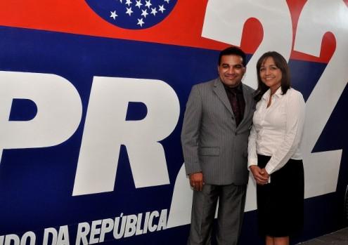 A deputada Eliziane Gama e o presidente do PR no Maranhão, Josimar de Maranhãozinho