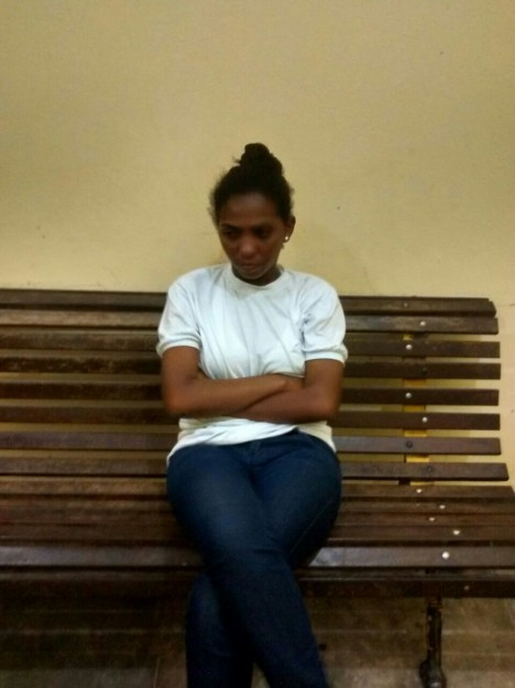 Joselina Cunha, quando de sua prisão; mantida em cela masculina no presídio do quartel da PM-MA
