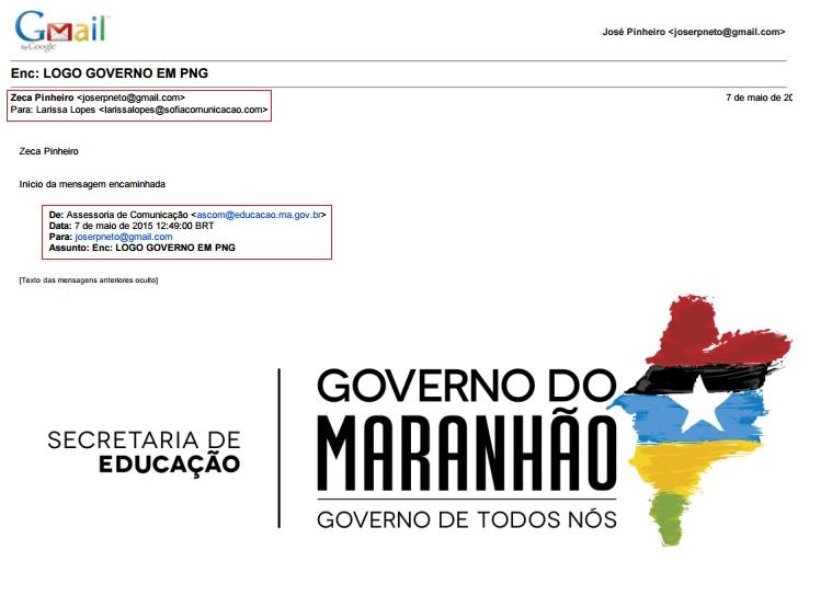 Seduc passou logomarca do Governo do Maranhão diretamente para subcontratada produzir as cartilhas pagas à Pública