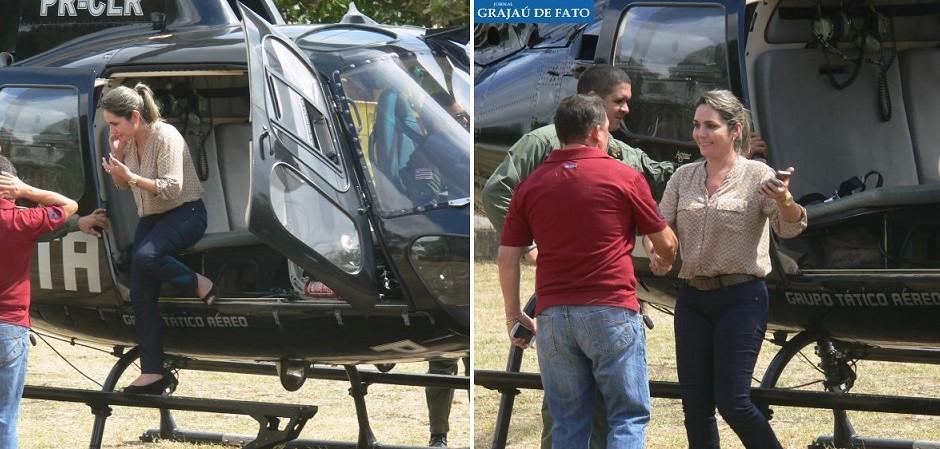 Com aeronaves alugadas por R$ 5,6 milhões, Dino e auxiliares usam helicóptero do GTA