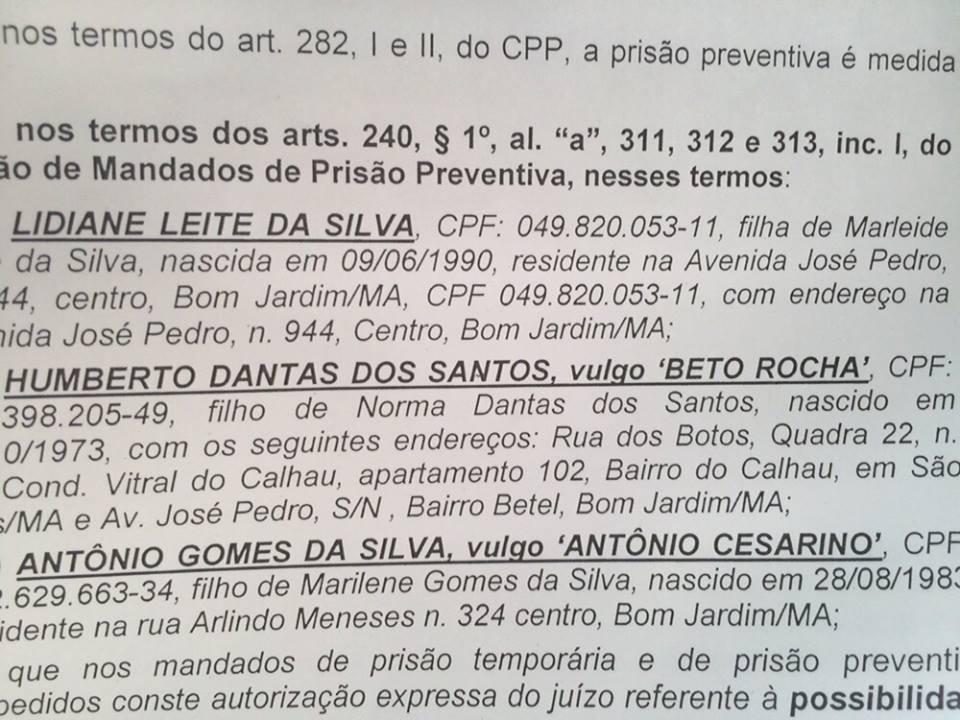 Ação da PF deve prender Lidiane Rocha, Beto Rocha e Antônio Cesarino