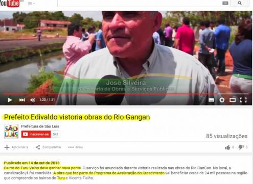 No destaque em amarelo, trecho em que a própria Prefeitura de São Luís diz que a construção da Ponte Pai Inácio faz parte do PAC