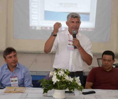O prefeito Zé Martins, durante abertura da 5ª Conferência Municipal sobre saúde