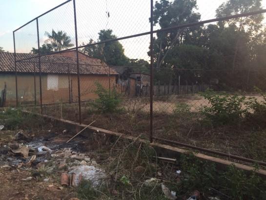 Quadra da Escola Municipal Maria Lucilene Moreira, em Davinópolis
