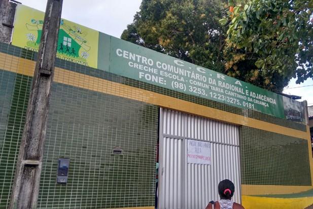 Creche escola Cantinho da Criança, que fica no bairro Radional, em São Luís