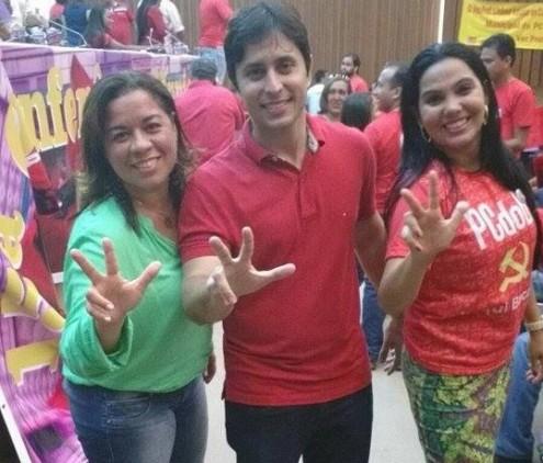 Duarte Júnior durante evento do PCdoB, partido do qual agora faz parte