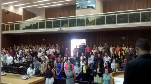 Estudantes participam a abertura da IV Jornada de Direito da Uema