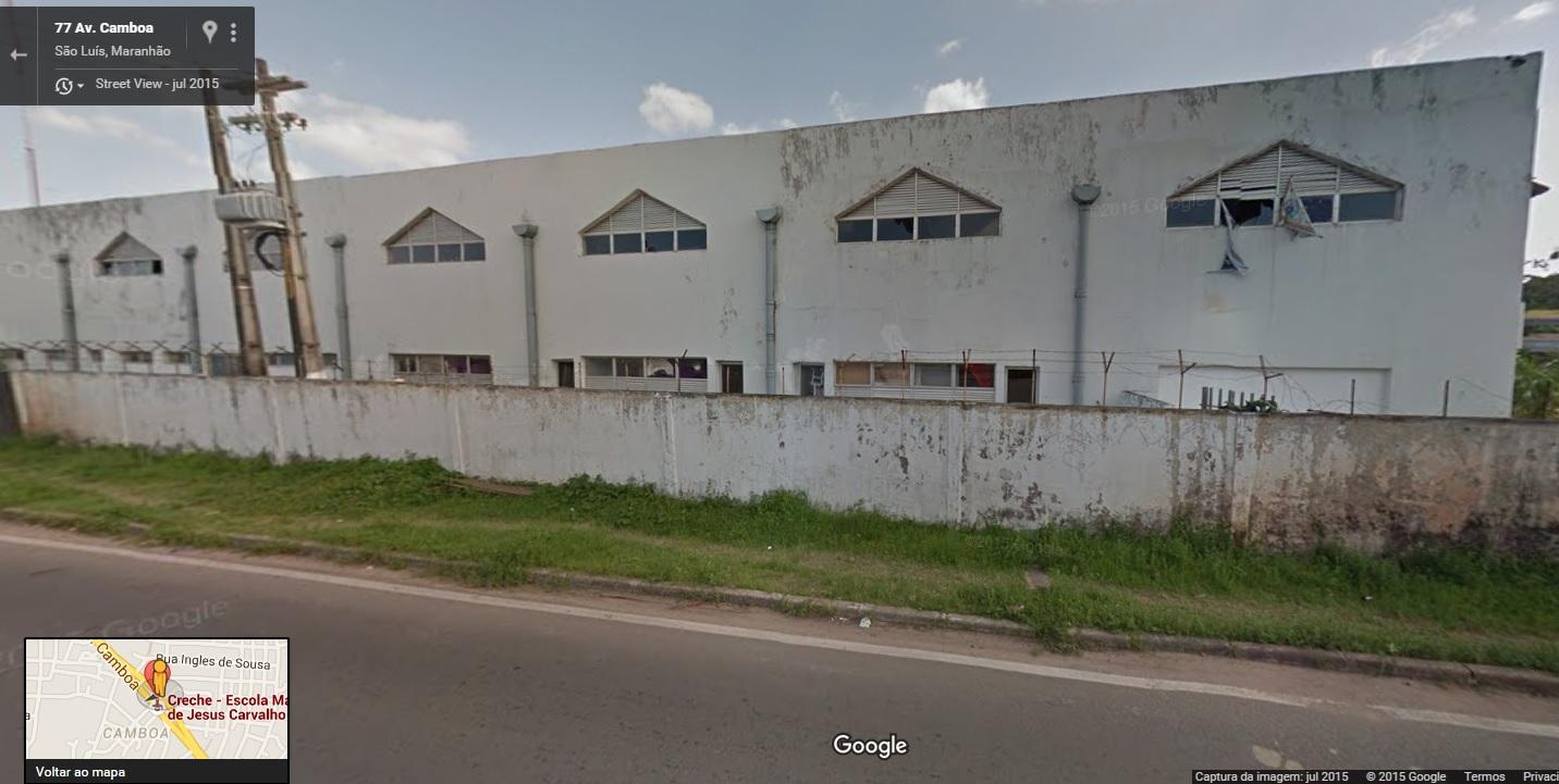 Imagem feita pelo aplicado Street View do Google Maps mostra que descaso não é de hoje