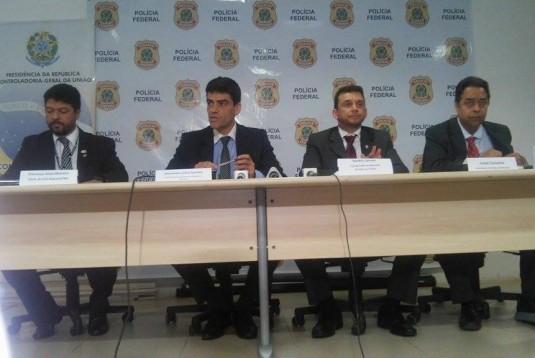 Delegados da PF explicam durante coletiva que OS e Oscis que ainda operam na Saúde do Maranhão faziam parte de organização criminosa