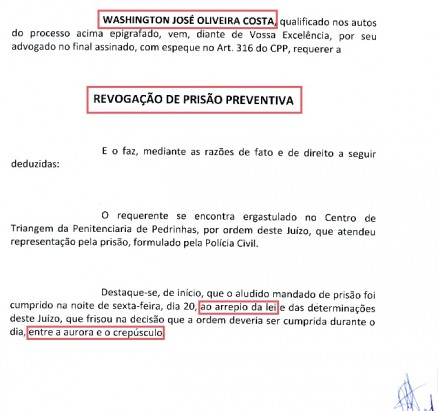 Réu confesso pode escapar das grades ainda esta semana, conforme teria garantido prefeito de São Mateus, Miltinho Aragão, aliado e ex-sócio do governador Flávio Dino