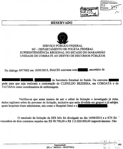 Relatório da PF comprova que governo Flávio Dino também foi investigado e descoberto em suposta prática criminosa na Saúde