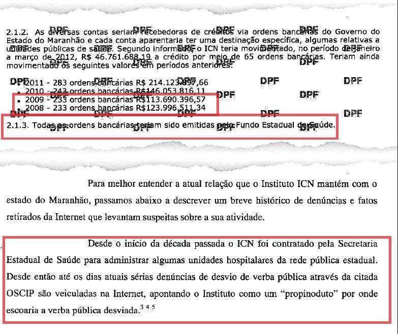 """Policiais federais sabiam do """"propinoduto"""" operado pelo ICN na Saúde do Maranhão, mas decidiram não pescar alguns peixes, nem lhes ministrar qualquer sermão"""