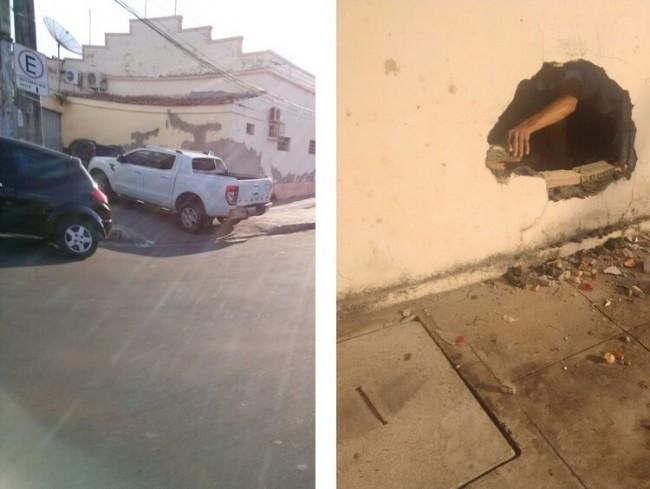 Veículo em que Paulo Marinho estava acabou batendo num muro de uma casa ao tentar empreender fuga