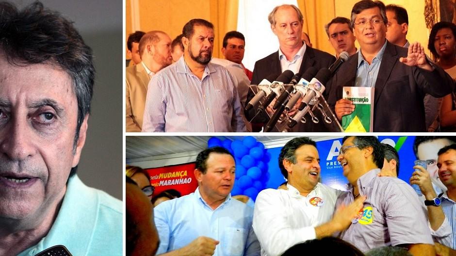 """""""Esse é o Flávio Dino que votou no Aécio e a ele jurou amor eterno"""", lembra Murad"""