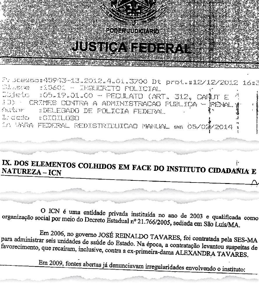 Relatório da Polícia Federal aponta que entrada do ICN nos cofres da SES beneficiou ex-primeira-dama do Maranhão, Alexandra Tavares