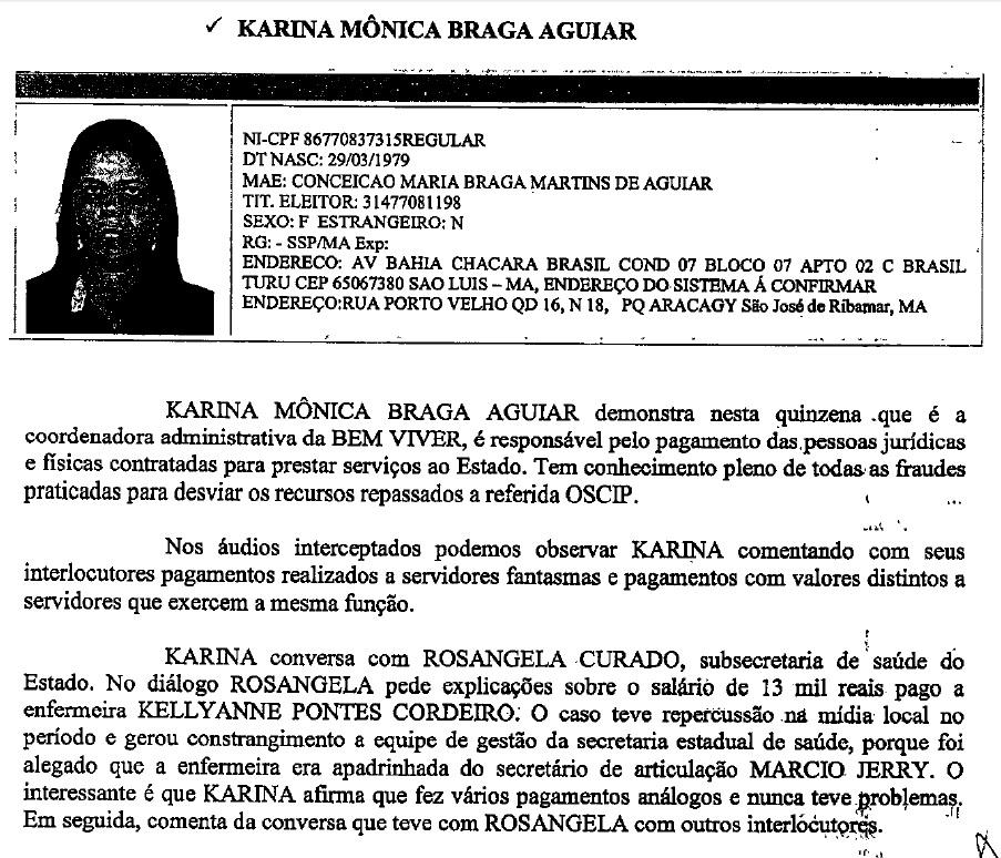 Trecho do relatório da Operação Sermão aos Peixes, da Polícia Federal, que mostra parte de como funcionou a corrupção no governo Flávio Dino por meio da Oscip Bem Viver