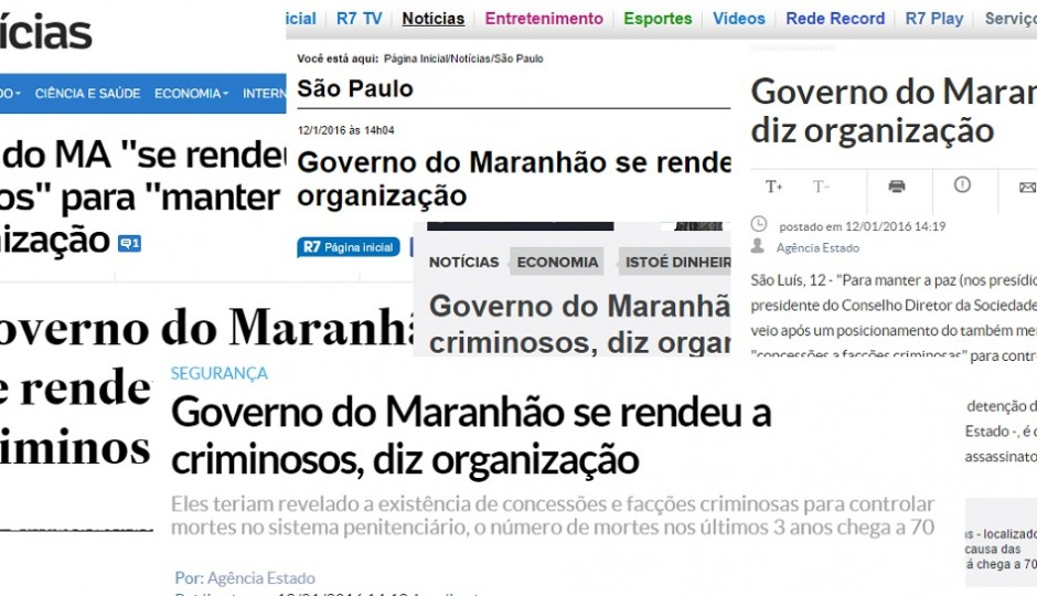 Rendição do governo Flávio Dino a criminosos de Pedrinhas repercute nacionalmente