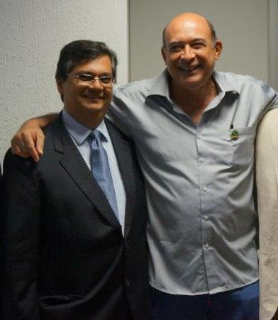 O governador Flávio Dino e o amigo e aliado Ribamar Alves, separados por ora enquanto o último está na cadeia sob acusação de estupro