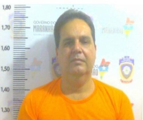 O ex-prefeito de Paço do Lumiar, Gilberto Aroso, durante identificação no Complexo Penitenciário de Pedrinhas