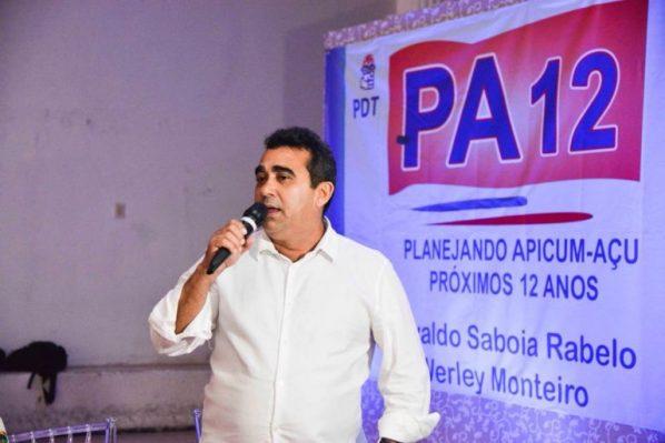 O pré-candidato a prefeito de Apicum-Açu e idealizador do projeto, Osvaldo Saboia