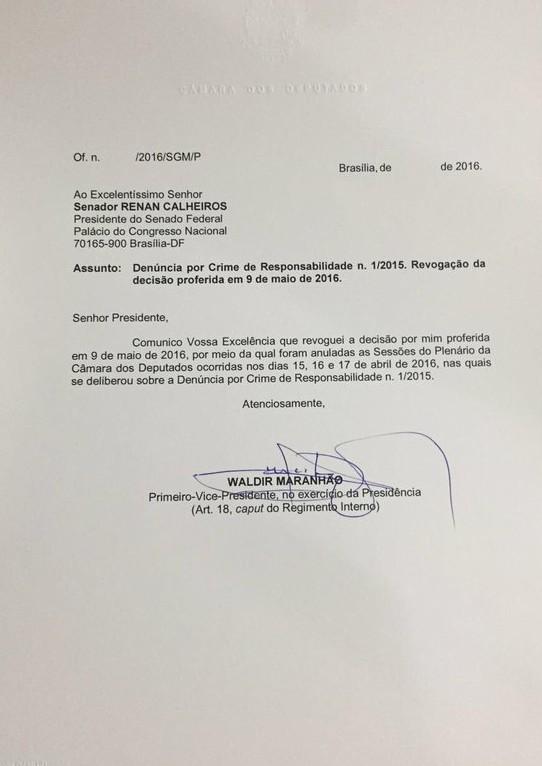 revogacao-waldir-maranhao-impeachment-dilma-renal-calheiros